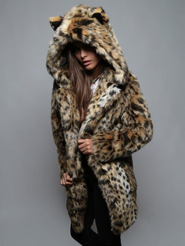 Cheetah Faux Fur Coat