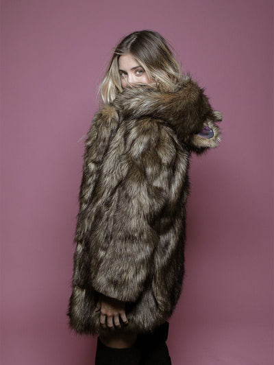 Grizzly Golden Galaxy Faux Fur Coat - SpiritHoods