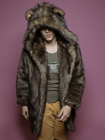 Grizzly Golden Galaxy Faux Fur Coat
