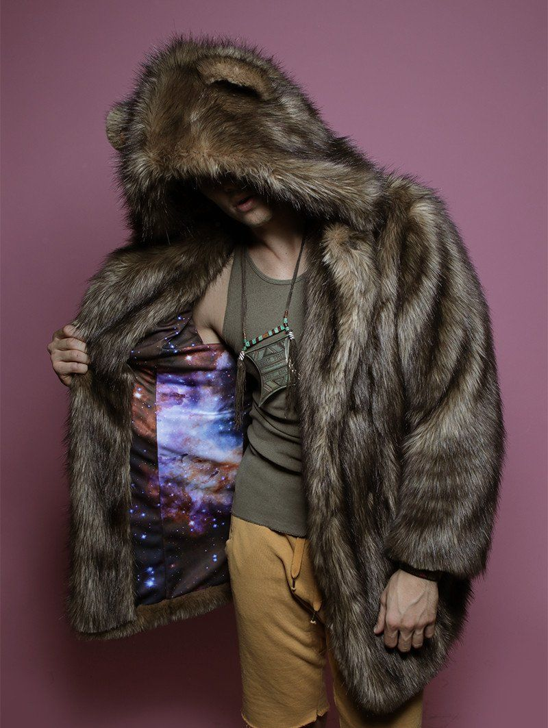 d98bfc410 SpiritHoods® | Grizzly Golden Galaxy Faux Fur Coat