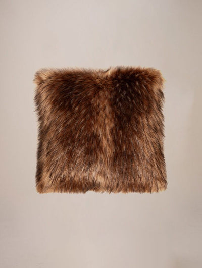 Grizzly Faux Fur Pillow - SpiritHoods