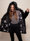Collector Edition Hooded Black Panther Faux Fur Coat - SpiritHoods