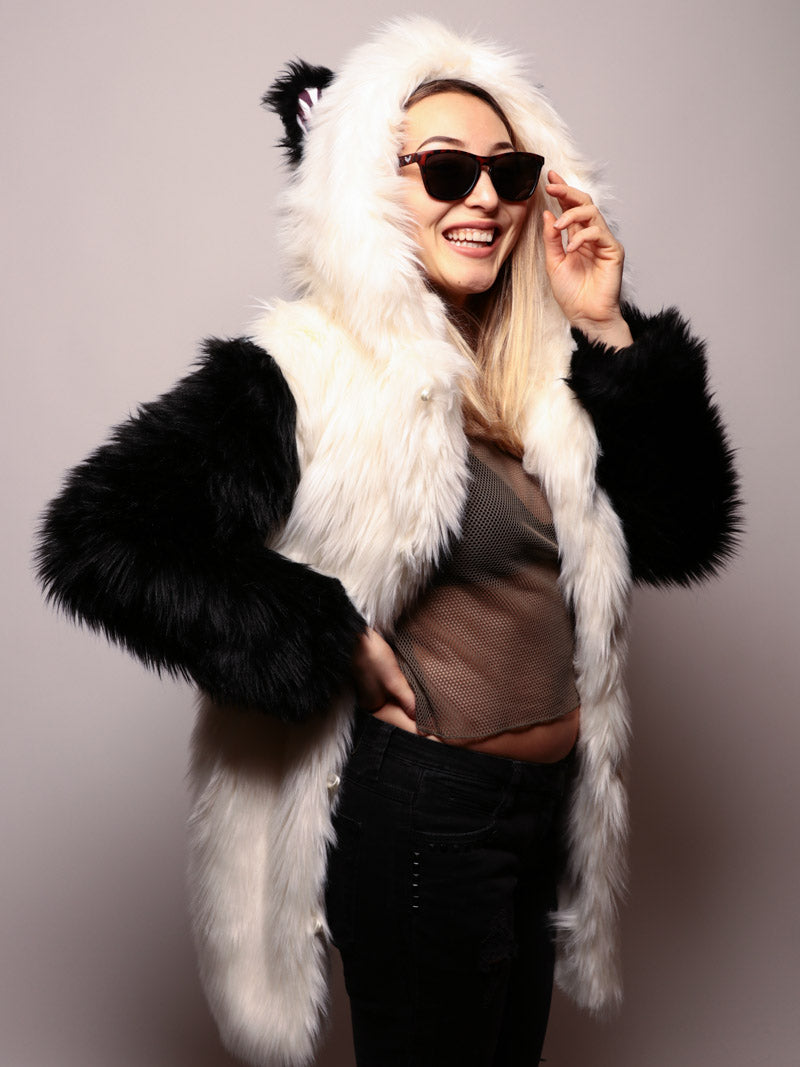 Limited Edition Panda Faux Fur Coat - SpiritHoods