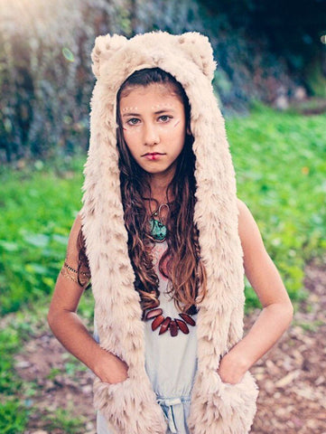 Kids Snow Leopard SpiritHood