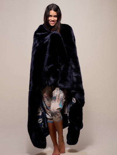Indigo Fox Luxe Faux Fur Throw - SpiritHoods