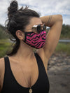 Neon Pink Zebra Copper-Threaded Face Mask - SpiritHoods