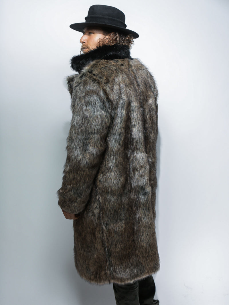 Direwolf Calf Length Faux Fur Coat