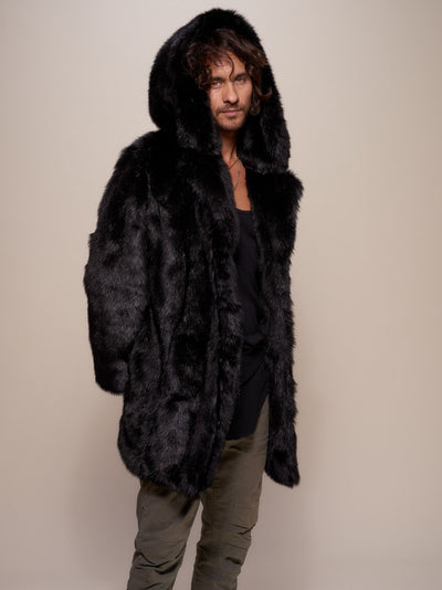 Hooded Black Panther Collector Edition Faux Fur Coat - SpiritHoods