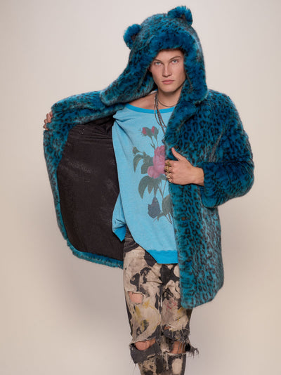Classic Ice Leopard Luxe Faux Fur Coat - SpiritHoods