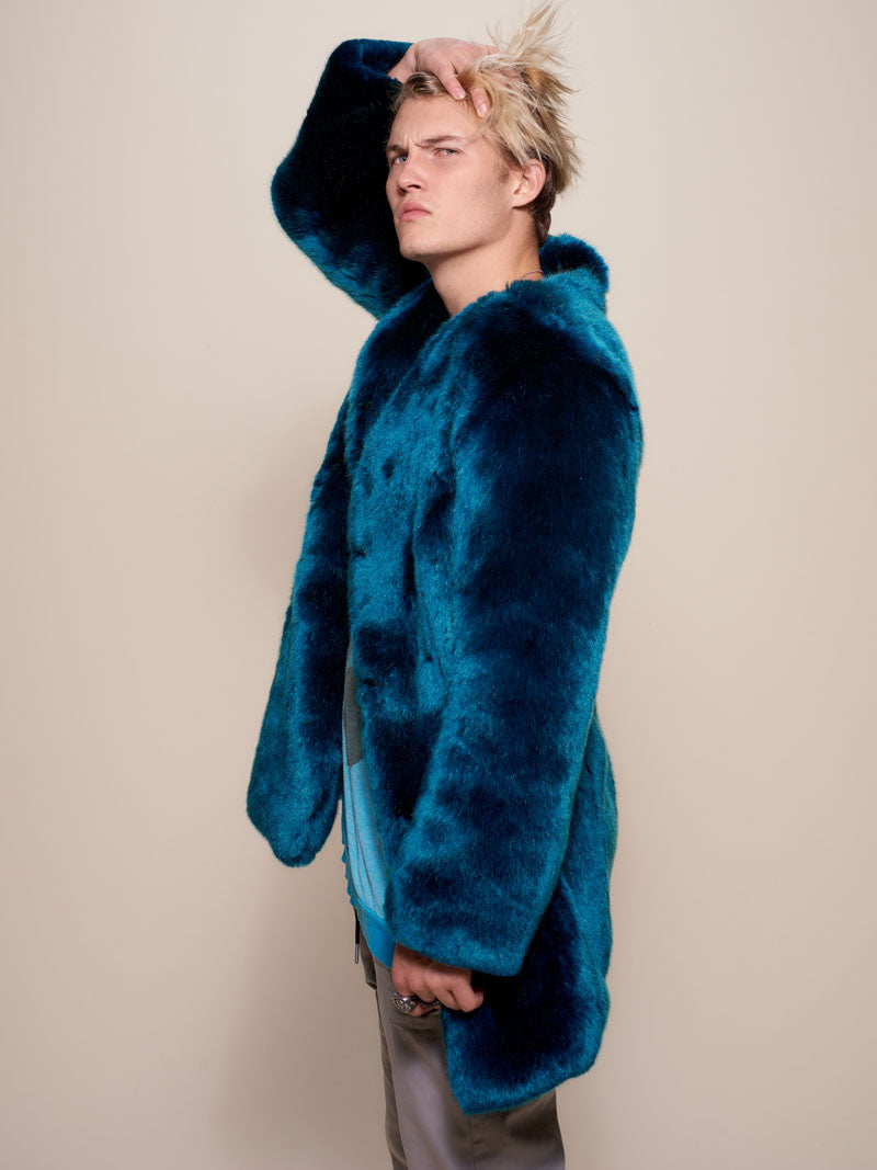 Royal Wolf V-Neck Luxe Faux Fur Coat
