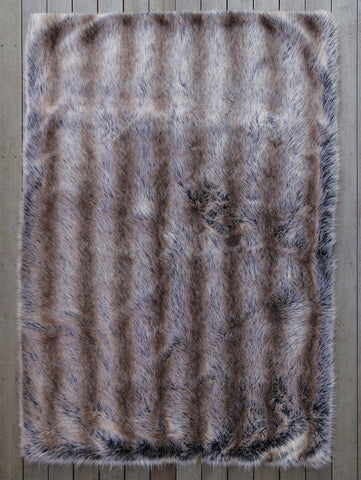 Grey Wolf Small Faux Fur Throw