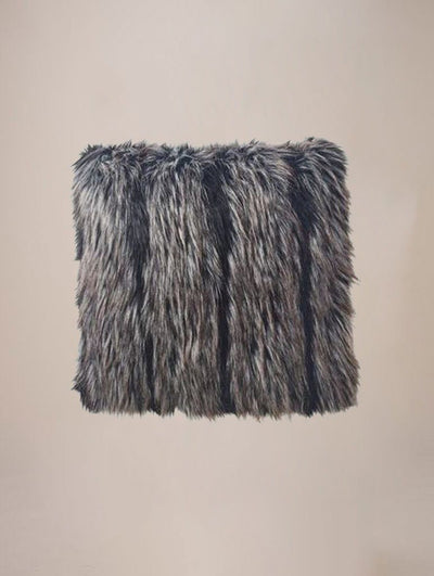 Night Fox Faux Fur Pillow - SpiritHoods