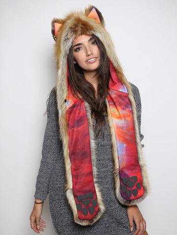 RED-Red Fox *Unisex* RED Rainbow Galaxy SpiritHood