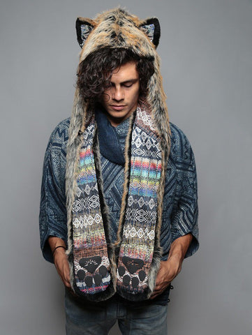 Red Wolf Rainbow Collector SpiritHood