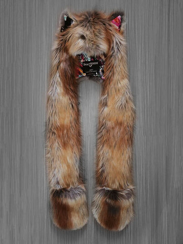 Limited Edition Red Fox Floral SpiritHood
