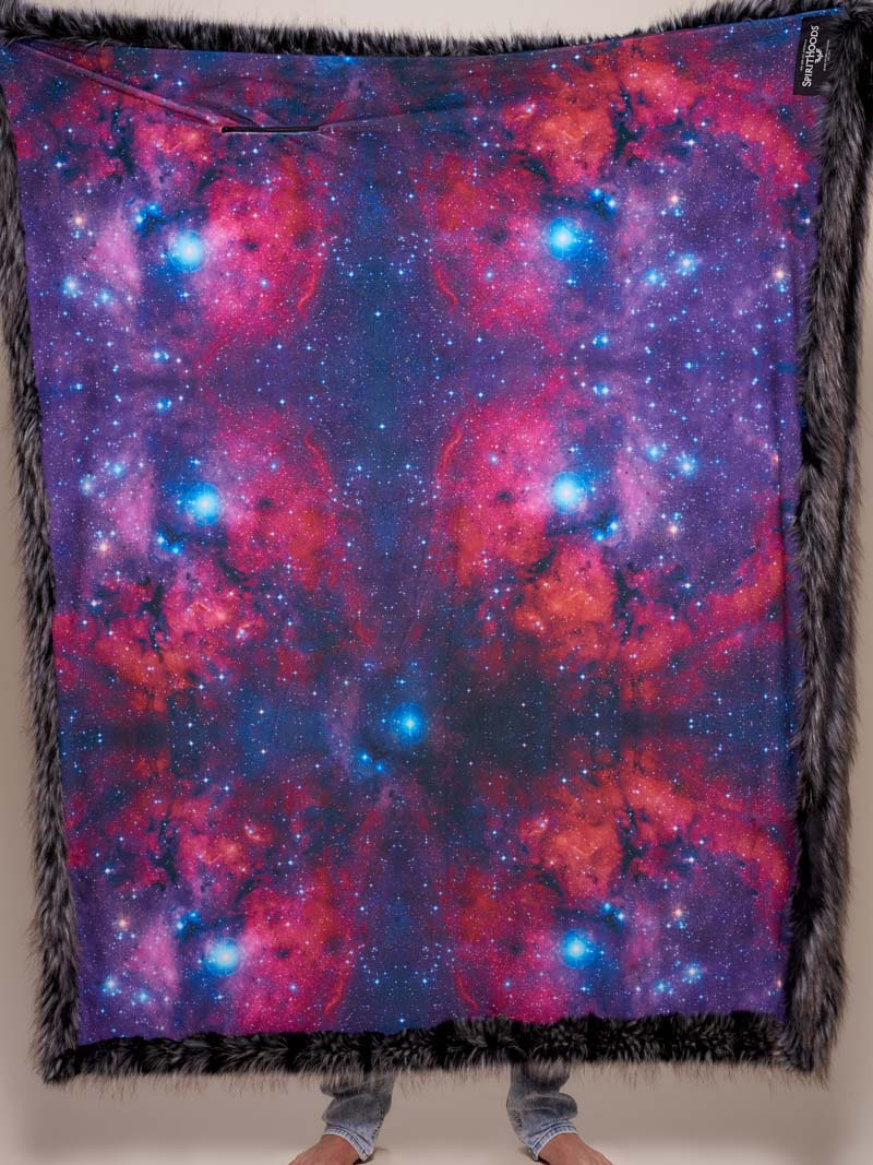 Limited Edition Night Fox Galaxy Faux Fur Throw