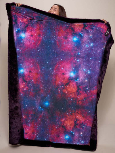 Luxe Midnight Wolf Limited Edition Galaxy Faux Fur Throw - SpiritHoods