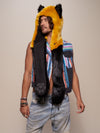 Collector Edition Golden Wolf Luxe Faux Fur SpiritHood - SpiritHoods