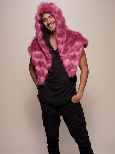 Limited Edition Rose Finch Faux Fur Shawl - SpiritHoods