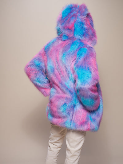 Classic Cotton Candy Bear Faux Fur Coat - SpiritHoods