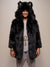 Collector Black Wolf Faux Fur SpiritHoods Coat
