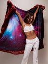 Luxury Garnet Galaxy Faux Fur Throw - SpiritHoods