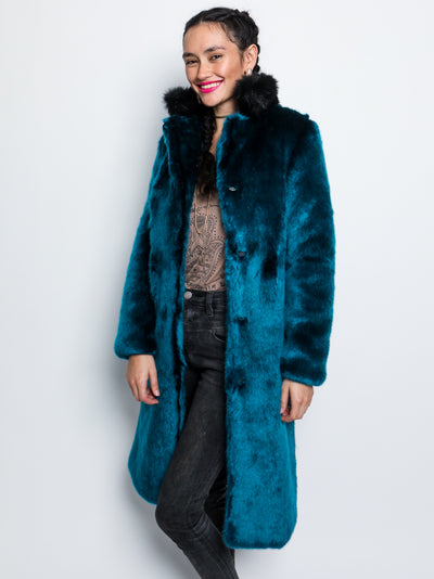 Luxe Royal Wolf Calf Length Faux Fur SpiritHoods Coat - SpiritHoods