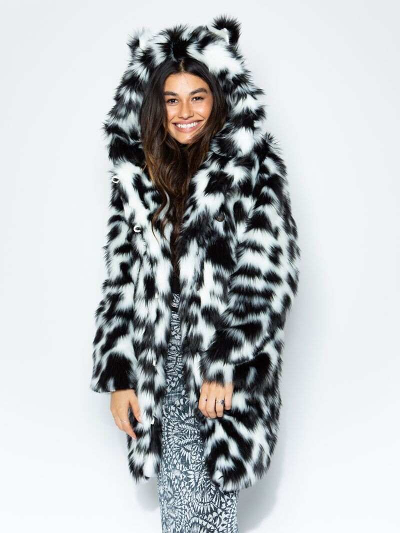 Spotted Leopard Faux Fur Coat