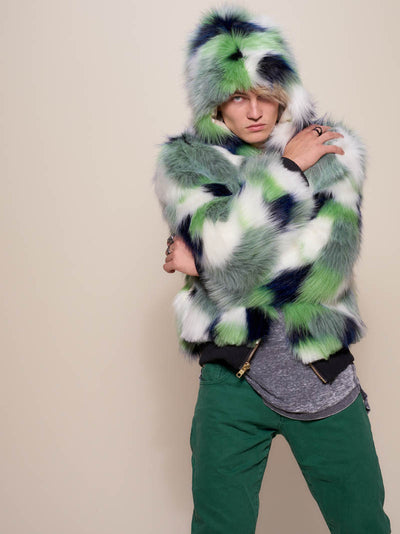 Hooded Magpie Faux Fur Bomber - SpiritHoods