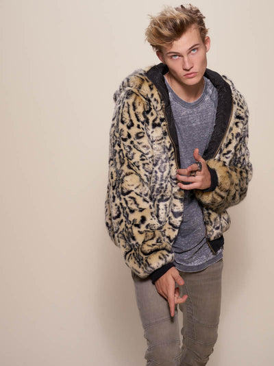 Classic Ocelot Luxe Faux Fur Bomber - SpiritHoods