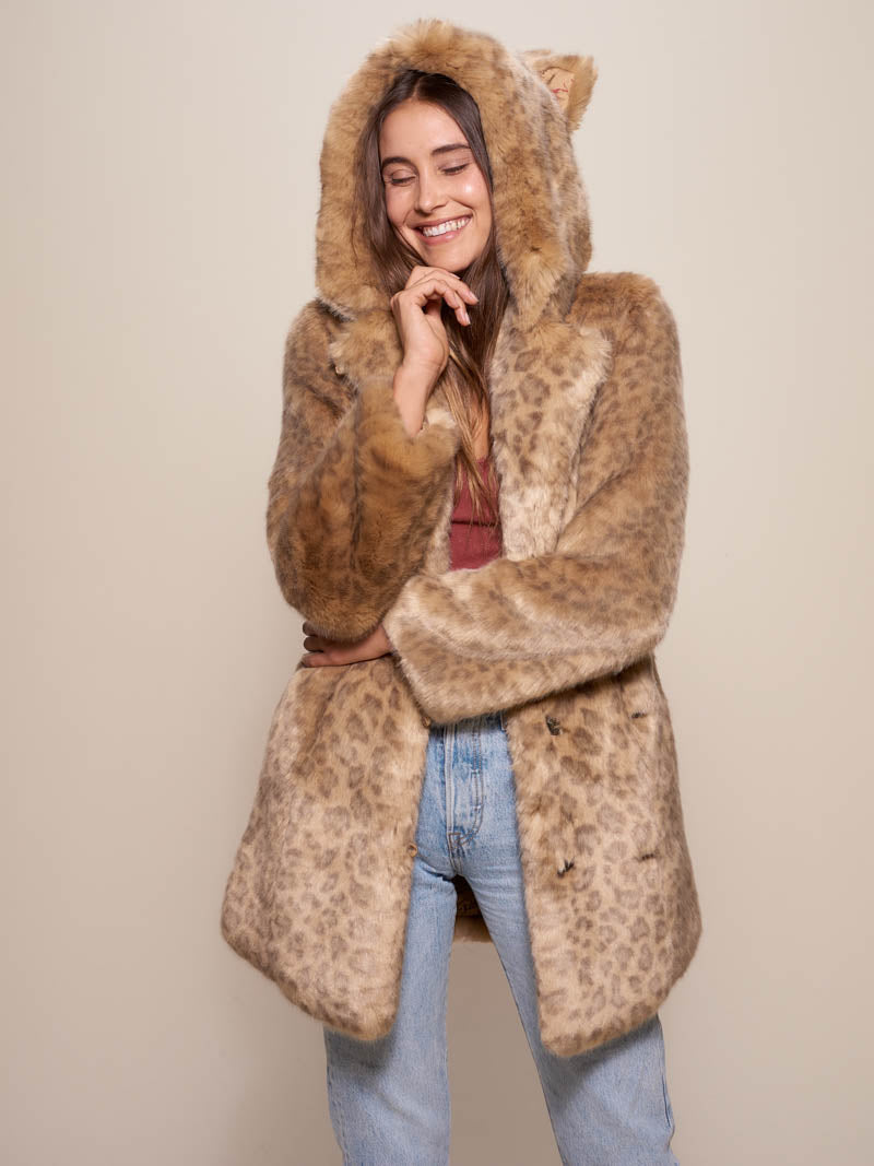 Classic African Golden Cat Luxe Faux Fur Coat - SpiritHoods