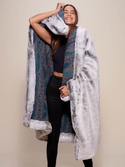 Grey Fox Italy Faux Fur Throw - SpiritHoods