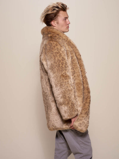 African Golden Cat Luxe Faux Fur Coat - SpiritHoods