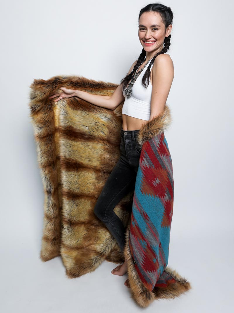 Sunset Fox Faux Fur Throw - SpiritHoods