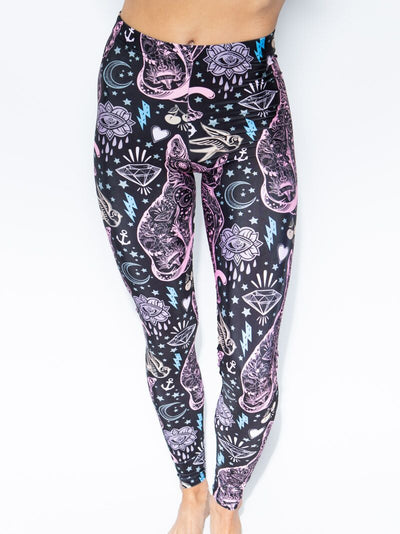 Sacred Sailor Kitty Nylon SpiritHood Leggings - SpiritHoods