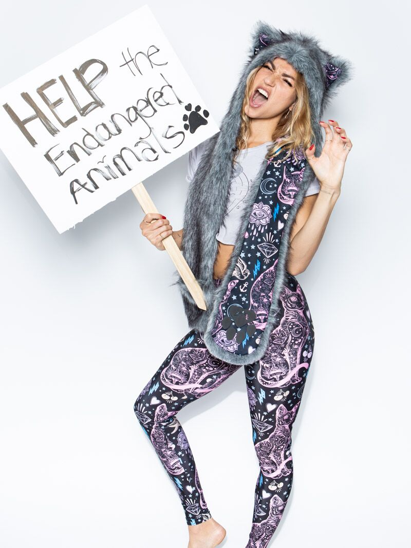 Sacred Sailor Kitty Nylon SpiritHood Leggings
