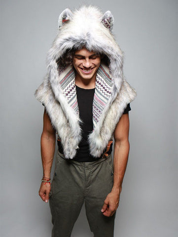Timber Wolf Shawl Collector SpiritHood