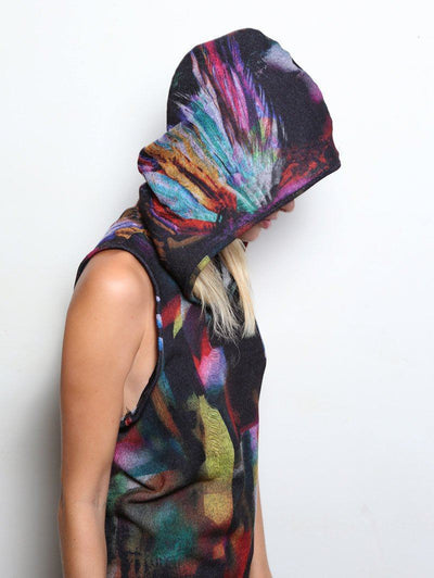 Unisex Feather Hooded Tank - SpiritHoods