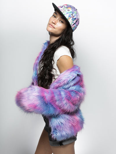 LE Cotton Candy Bomber Faux Fur Bomber - SpiritHoods