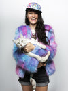 Limited Edition Cotton Candy Faux Fur Bomber - SpiritHoods