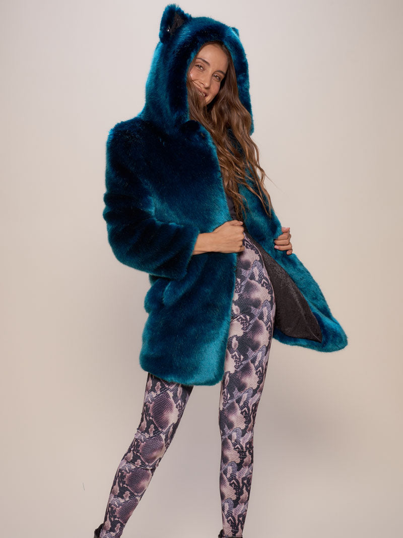Classic Royal Wolf Luxe Faux Fur Coat - SpiritHoods