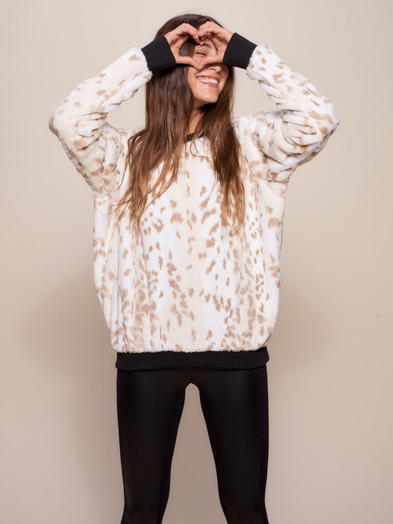 Snow Leopard Luxe Sweater - SpiritHoods