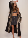 Classic Grey Wolf Faux Fur Robe - SpiritHoods