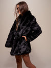 Black Panther Faux Fur Coat - SpiritHoods