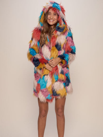 Hooded Butterfly Faux Fur Coat - SpiritHoods