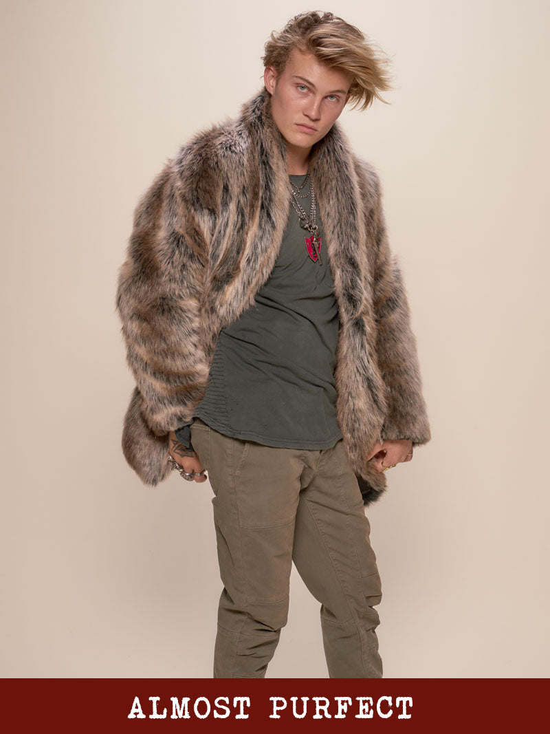 *Almost Purfect* Grey Wolf Faux Fur Coat - SpiritHoods