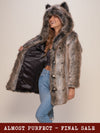 *Almost Purfect* Classic Grey Wolf Faux Fur Coat - SpiritHoods