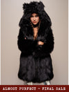 *Almost Purfect* Classic Black Wolf Faux Fur Coat - SpiritHoods
