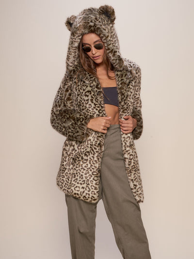 Classic Forest Leopard Luxe Faux Fur Coat - SpiritHoods