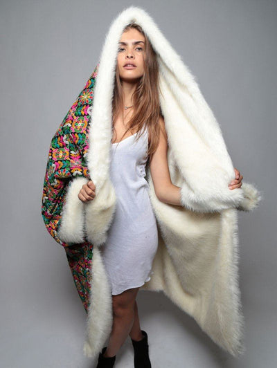 Ivory Floral Throw - SpiritHoods